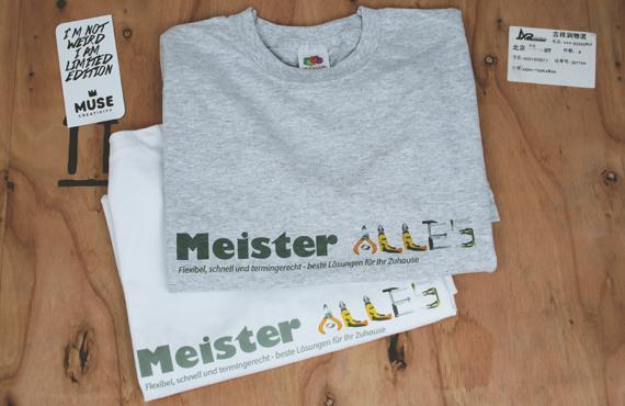 Поръчка за изработка на работни тениски за немската фирма Meister Alles