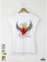 Tattoo Lover's Дамска бяла тениска с дизайнерски принт