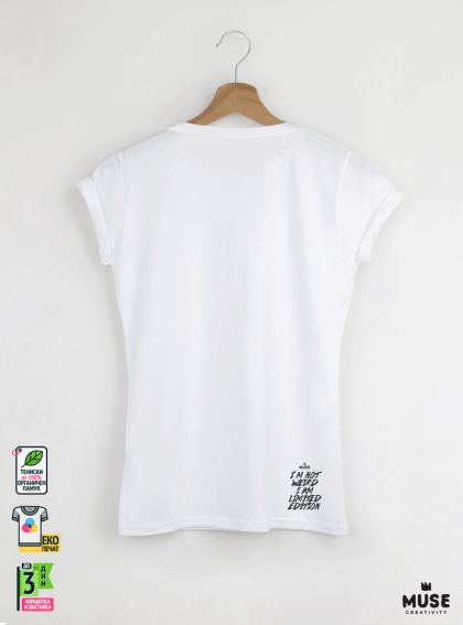 Aquarelle indian Дамска Бяла Тениска с Дизайнерски Принт