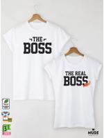 The Boss Тениски за двойки с дизайнерски принт