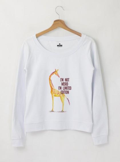 Giraffe I AM Дамска снежно бяла Блуза с дизайнерски принт