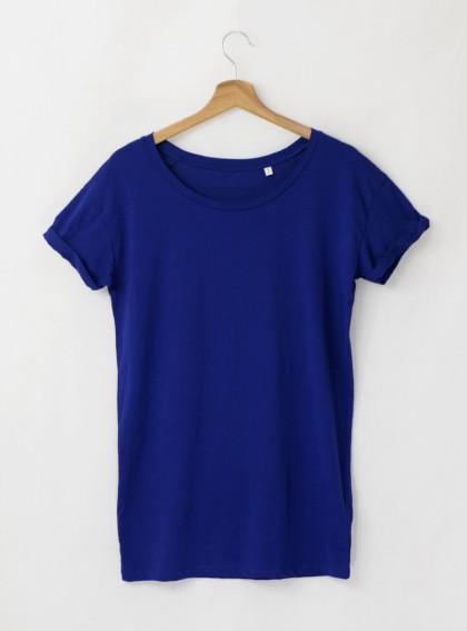 Дамска Синя Тениска От Органичен Памук