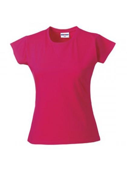 Дамска Тениска В Цвят Фуксия Слим