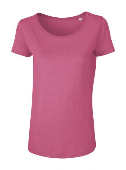 Camelia Pink Дамска Розова Тениска От Органичен Памук И Модал
