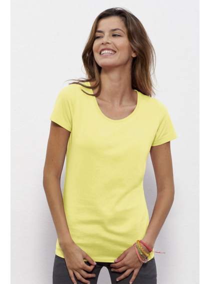Iris Yellow Дамска Жълта Тениска От Органичен Памук И Модал