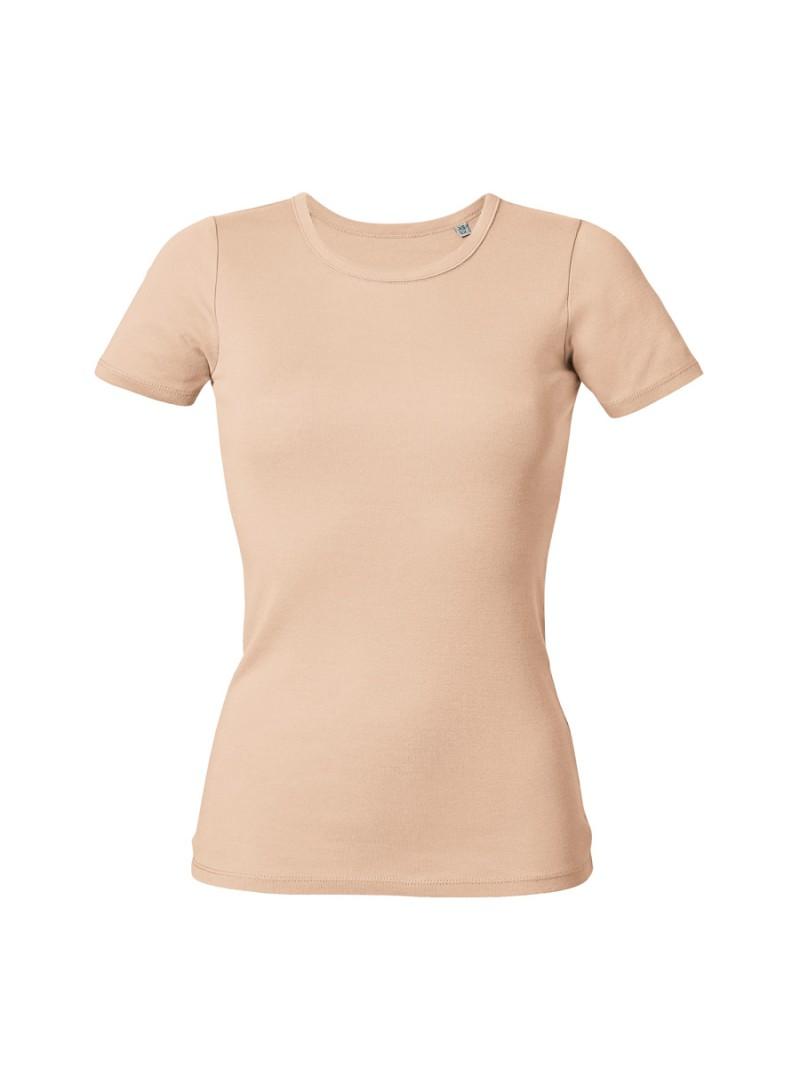 Дамска Тениска В Цвят Праскова От Органичен Памук