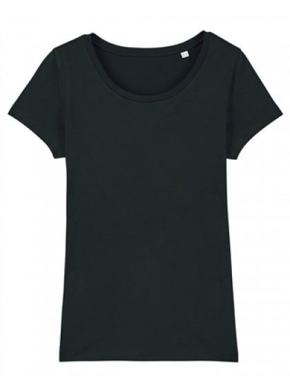 Дамска Черна Тениска От Органичен Памук