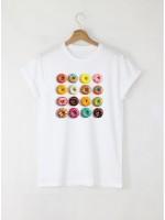 Coffee мъжка бяла тениска с дизайнерски принт