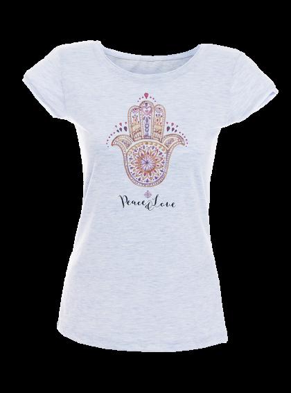 Fatima Hand Hamsa Акварел - дамска тениска NY с дизайнерски принт