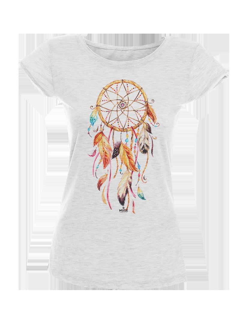 Dreamcatcher Акварел - дамска тениска NY с дизайнерски принт