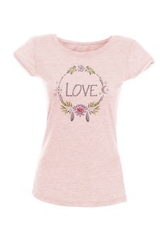 Love Акварел - дамска тениска NY с дизайнерски принт