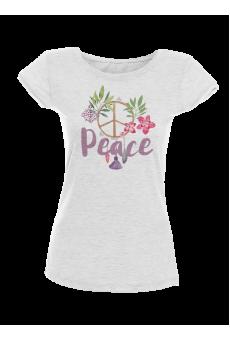 Peace Акварел - дамска тениска NY с дизайнерски принт